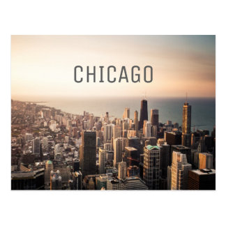 Chicago cityscape postcard