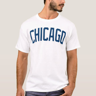 Chicago Classic Blue and White t shirt