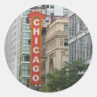 Chicago Classic Round Sticker