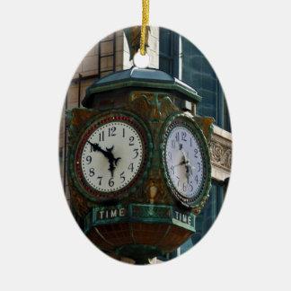 Chicago Clock Ceramic Ornament