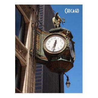 Chicago Clock Postcard