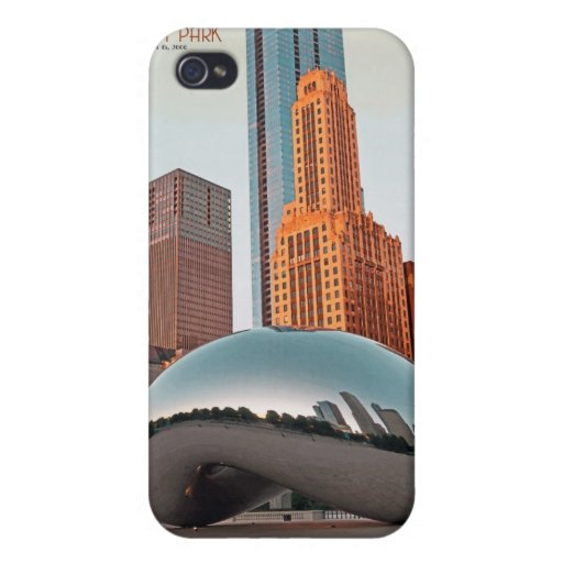 Chicago - Cloud Gate at Millenium Park Covers For iPhone 4