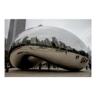CHICAGO CLOUD GATE BIG BEAN POSTER