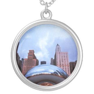 Chicago Cloud Gate Round Pendant Necklace