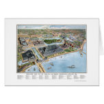 Chicago Columbian Expo, IL Panoramic Map - 1893 Greeting Cards