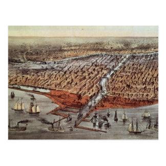 Chicago como era, c.1880 postales