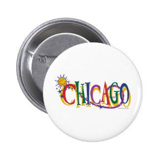Chicago-Con-SUn---NIÑOS Pin Redondo De 2 Pulgadas