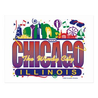 Chicago-Confeti Postal