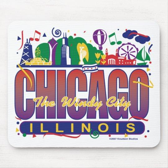 Chicago-Confetti Mouse Pad