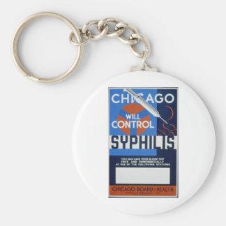 Chicago controlará sífilis llavero