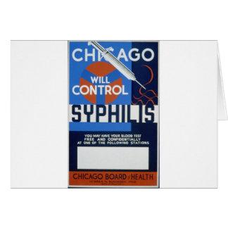 Chicago controlará sífilis tarjeta de felicitación