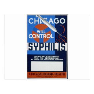 Chicago controlará sífilis tarjeta postal