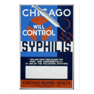 Chicago controlará sífilis tarjetas postales