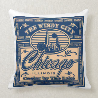Chicago Cooler by the Lake Throw Pillows
