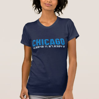 CHICAGO coordinates graphic tee