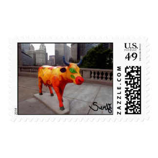 Chicago Cow on Parade Postage