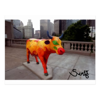 Chicago Cow on Parade Postcard