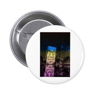 Chicago Crown Fountain Millennium Park Buttons