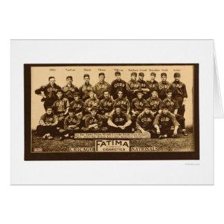 Chicago Cubs Baseball 1913 Greeting Card