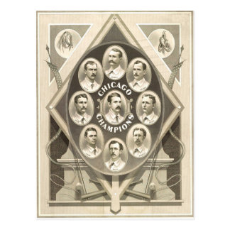 Chicago Cubs Win the 1st National Pennant Postcard