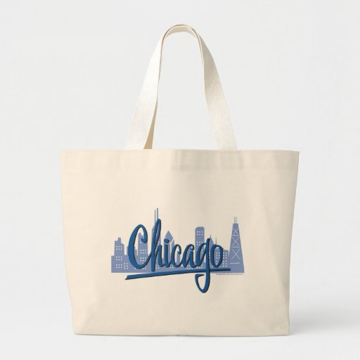 CHICAGO-Dark-Blue Tote Bags