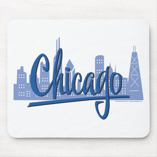 CHICAGO-Dark-Blue Mouse Pad
