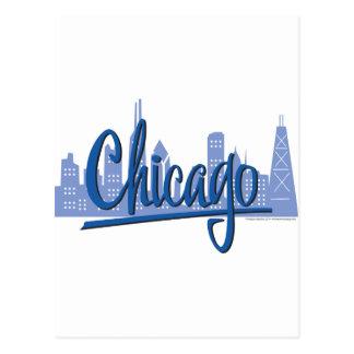 CHICAGO-Dark-Blue Postcard