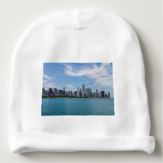 Chicago Day Cityscape Baby Beanie