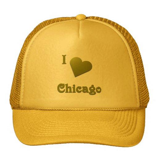 Chicago -- De color verde oscuro Gorros Bordados