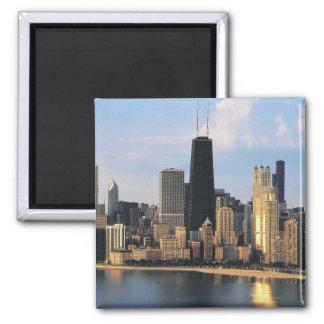 Chicago de la impulsión de la orilla del lago imán cuadrado