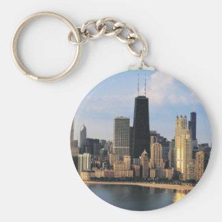 Chicago de la impulsión de la orilla del lago llavero redondo tipo pin