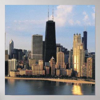 Chicago de la impulsión de la orilla del lago poster
