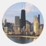 Chicago de la impulsión de la orilla del lago etiqueta redonda
