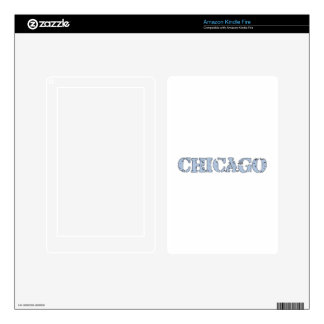 Chicago Decals For Kindle Fire