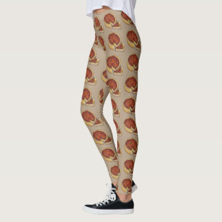 Chicago Deep Dish Pepperoni Cheese Pizza Foodie Leggings