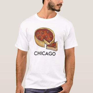 Chicago Deep Dish Pepperoni Pizza Pie Slice Tee