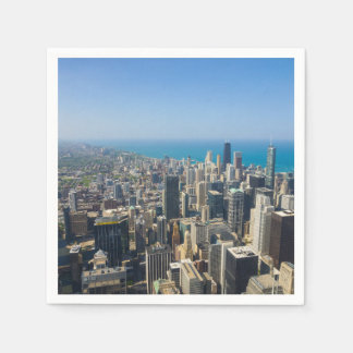 Chicago desde arriba servilleta desechable