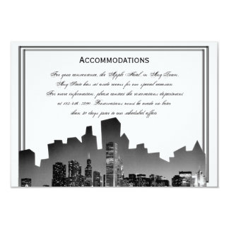 Chicago Destination Wedding Accomodations Custom Announcements