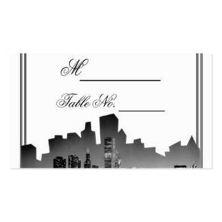 Chicago Destination Wedding Place Card Double-Sided Standard Business Cards (Pack Of 100)
