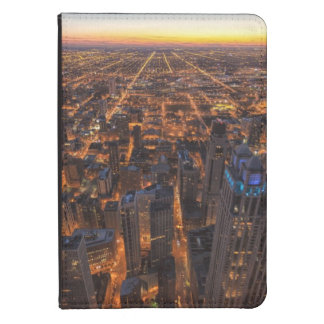 Chicago downtown at sunset kindle touch case