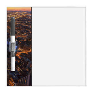 Chicago downtown at sunset Dry-Erase board