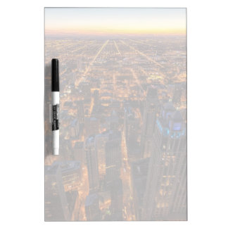 Chicago downtown at sunset Dry-Erase whiteboard
