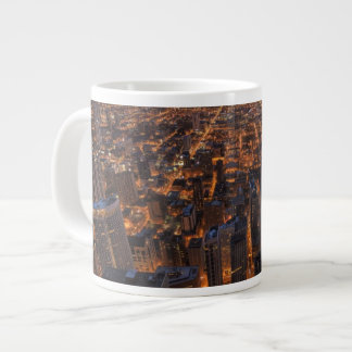 Chicago downtown at sunset giant coffee mug