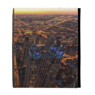 Chicago downtown at sunset iPad folio cover