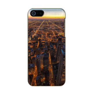 Chicago downtown at sunset metallic phone case for iPhone SE/5/5s