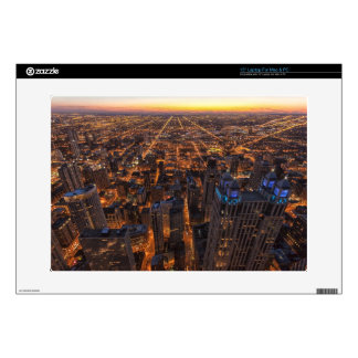 """Chicago downtown at sunset decal for 15"""" laptop"""