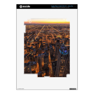 Chicago downtown at sunset iPad 3 skins