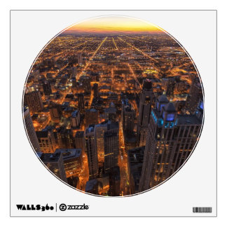 Chicago downtown at sunset wall sticker