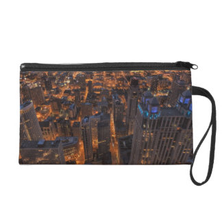 Chicago downtown at sunset wristlet
