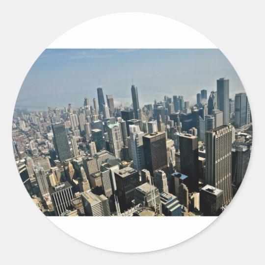 Chicago Downtown Classic Round Sticker